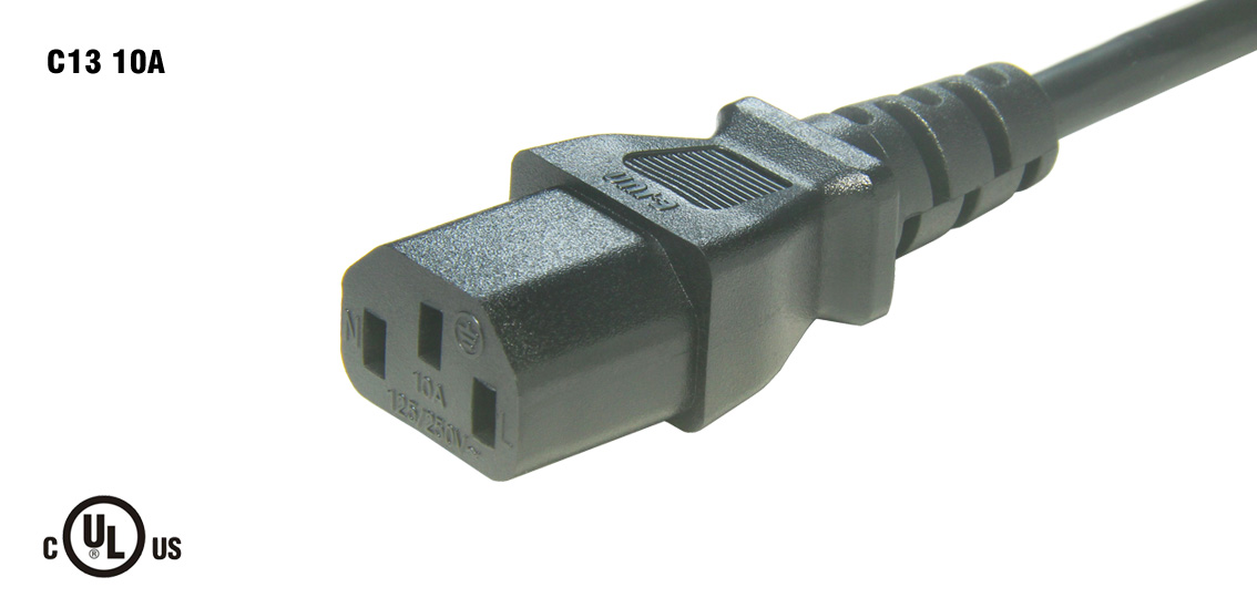UL&CSA Approved America/Canada IEC C13 Power Cord