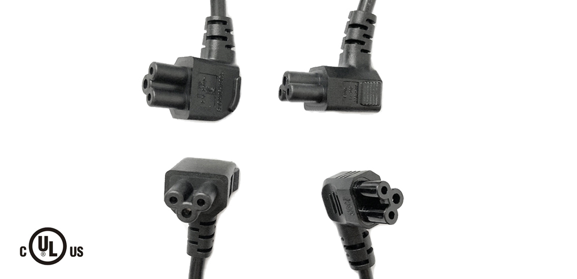 UL&CSA Approved America/Canada Right Angle IEC C5 Power Cord