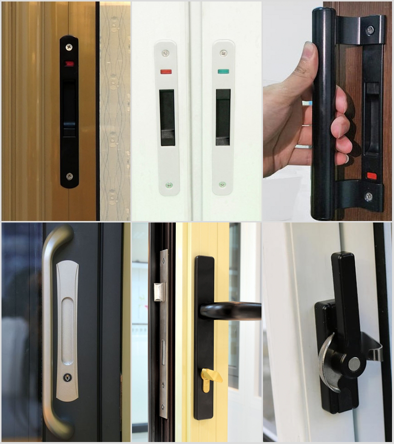 sliding door crescent lock