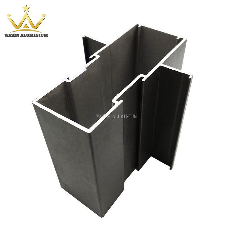 Extruded aluminum section profile for shop front