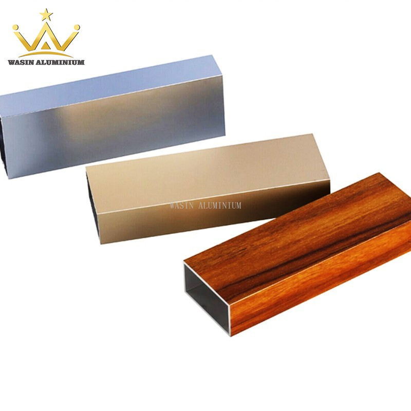 Various Sizes Of Rectangular Aluminum Profile And Tube In Difference Surface Color