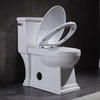 Comfort height skirted one-piece compact elongated 1.28 gpf toilet