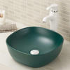 Vitreous china bathroom vessel sink without overflow
