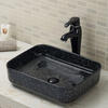 Counter top vitreous china bathroom vessel sink