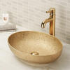 Oval counter top bathroom wash basin