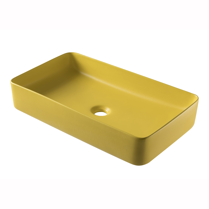 Rectangular Vessel Sink Bathroom Wash Basin