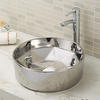 Designed Round Vessel Pedestal Wash Basin