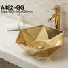 Designed diamond shape vessel bathroom lavabo