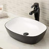 Narrow Vessel Sink without Faucet Hole