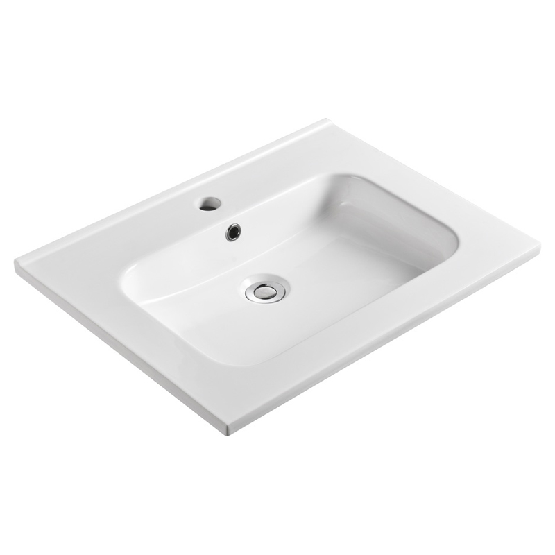 Rectangular Vanity Top Mount Bathroom Sink