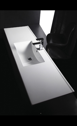 Vanity top bathroom sink