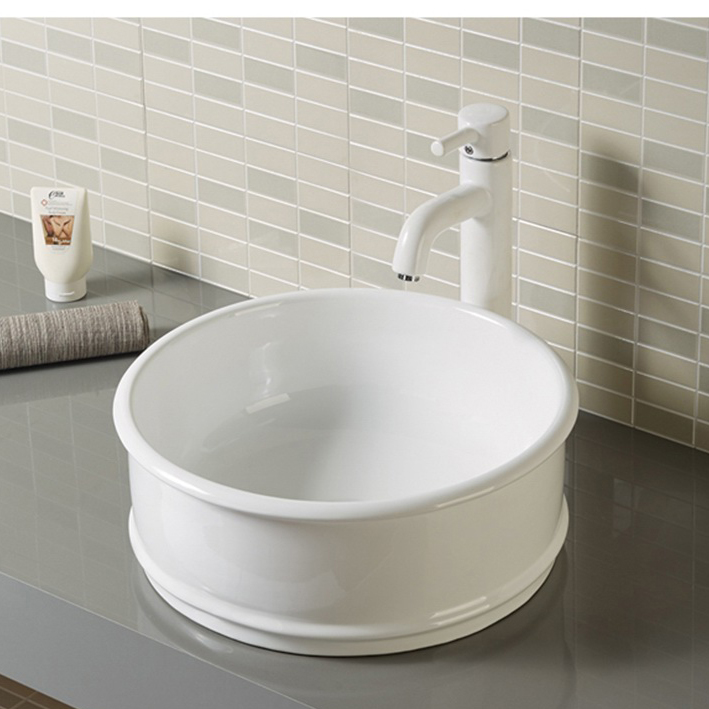 Round Porcelain Small Powder Room Sink