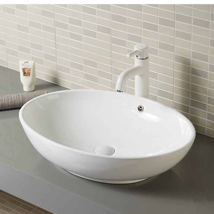 Oval Bathroom Lavatory Sink Face Wash Basin