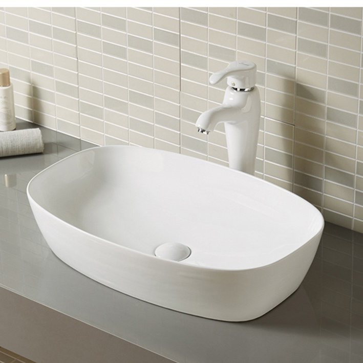 Large Ceramic Porcelain Vessel Bathroom Sinks