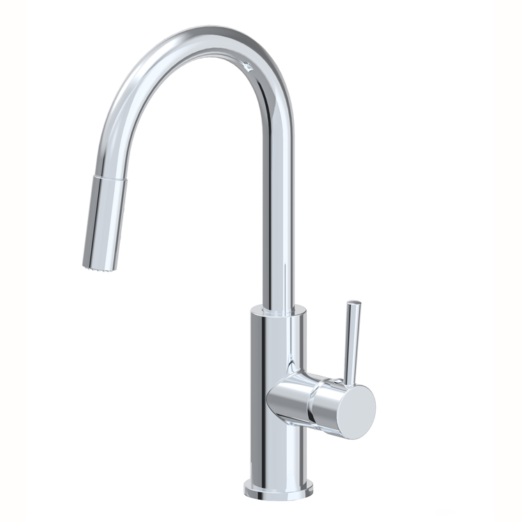 Single Handle Pull-down Spout Kitchen Sink Faucet Gooseneck