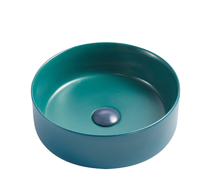 Custom matt color modern round wash basin factory