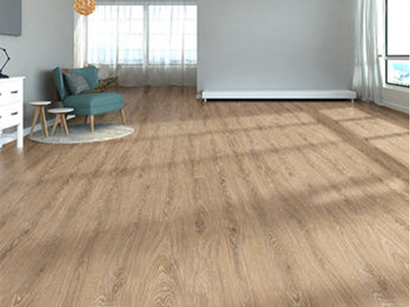 Faux wood vinyl flooring