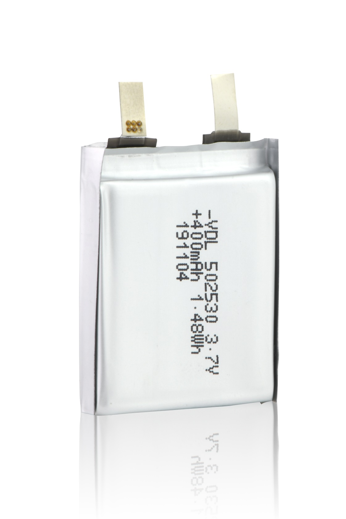 502530 3.7V,400mAh rechargeable battery