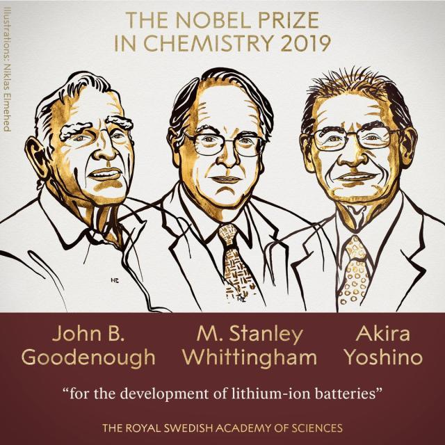 Nobel Prize in Chemistry Awarded for Work on Lithium Ion Battery