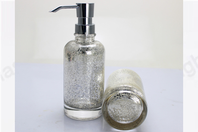 glass shampoo bottle