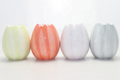 Unique Candle Jars Multi-Color Custom Ceramic Candle Vessel Wholesale