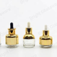 Luxury design electroplating color 30ml glass bottles and jars wholesale