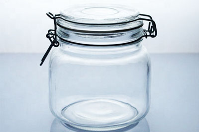 Clear seal ring air tight glass jars canister sets unique honey jars