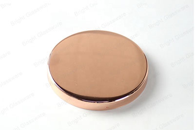 factory direct custom size rose gold copper metal lids for jars metal candle lid for sale