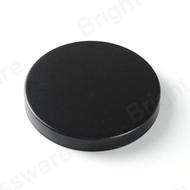 hina Manufacturer small candle cups Matte Black Metal Iron Lids With Silicone Ring