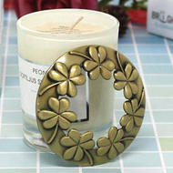 Wholesale Candle Accessory Set Round Golden Copper Plating Candle Zinc Alloy Metal Lid