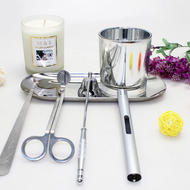 Custom Candle Tools Silver Candle Care Kit Candle Wick Scissors/Wick Trimmer/Snuffer Vido
