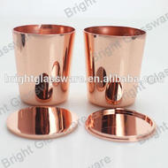 Luxury Wedding Rose Gold Zinc Alloy Candle Jars With Lid For Scented Candle Vido