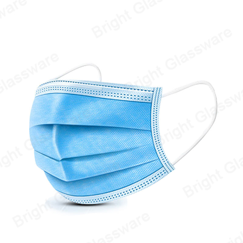 Non-woven 3 Ply Disposable Civilian/Surgical Standard Mask Protection Ear Wearing Face Mask in Sock
