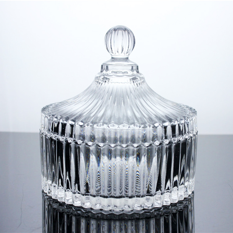 Mini glass candy jar transparent storage container for wedding favors gifts