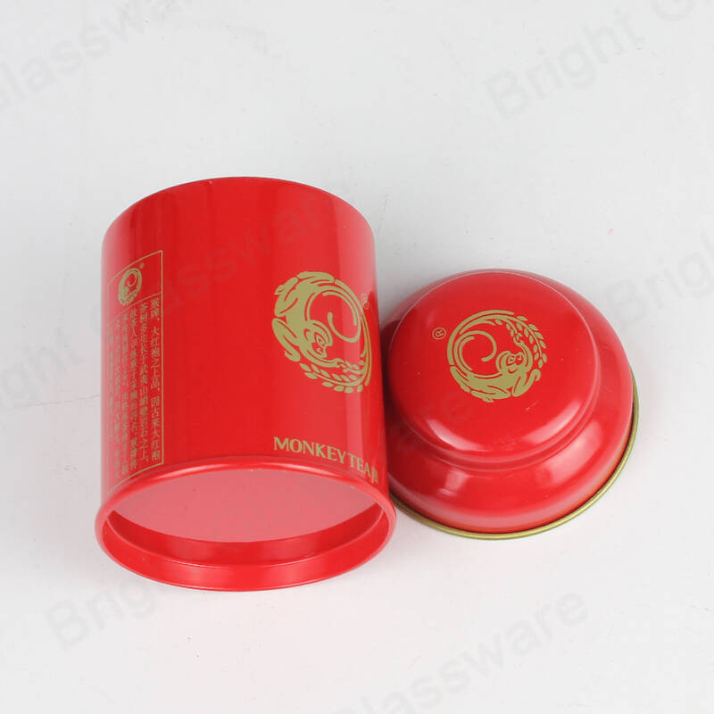 Purple Pink Red Mushroom Shape Tin Coffee Metal Box Tes Sugar Packaging Gift Boxes