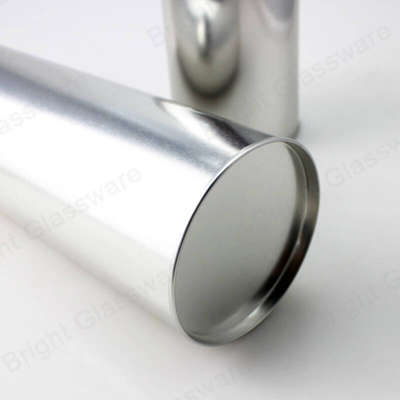 custom silver round tin box for snack potato chips packaging cylinder tube nuts tin can