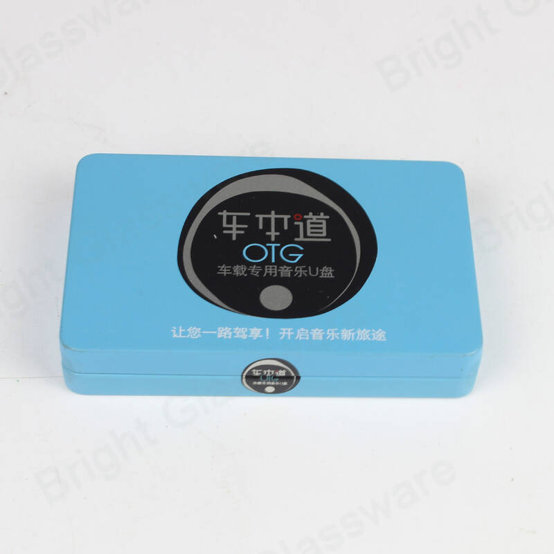 custom logo and printed metal tin boxes for keys USB electronic product packaging