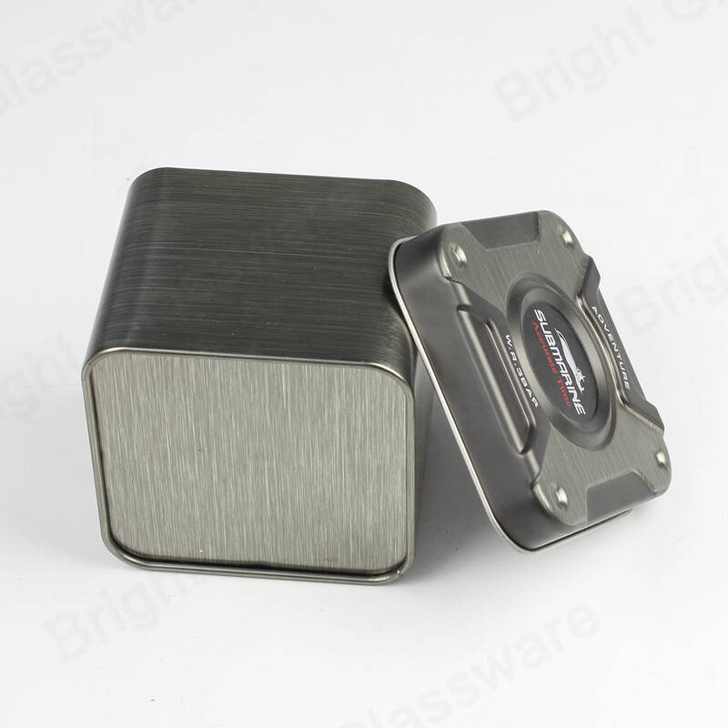 High quality designable square tin box for gift packaging