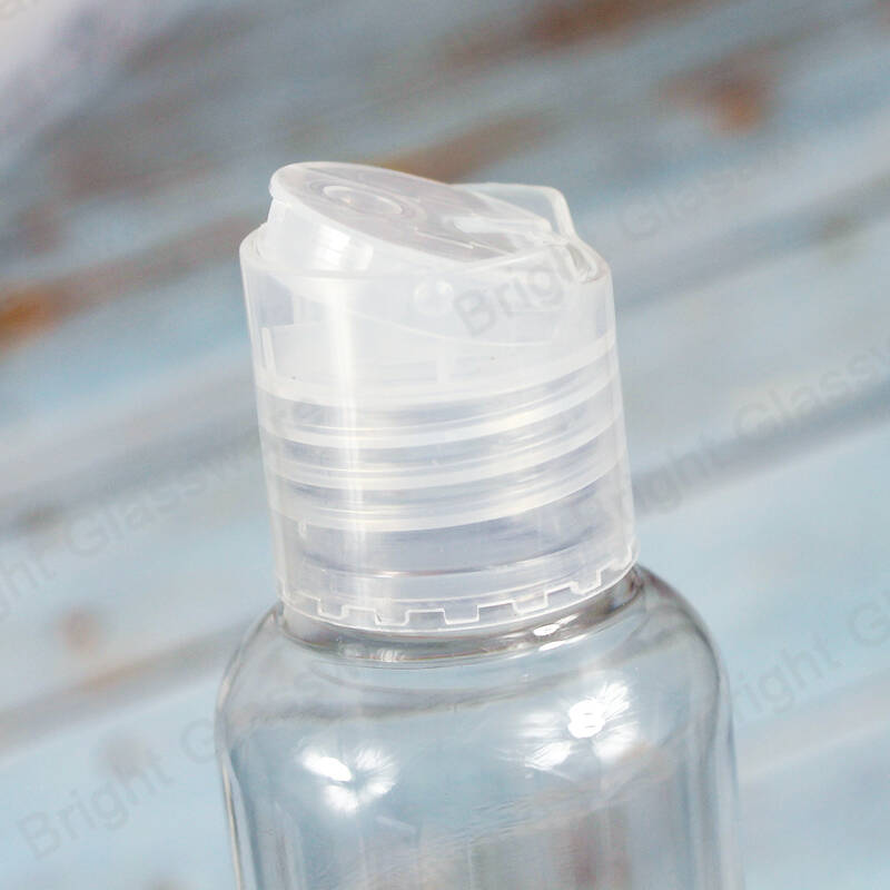 24 410 clear smooth flip top disc plastic cap for bottle
