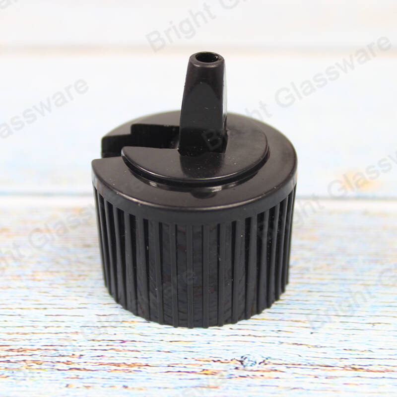 Wholesale 28/410 screw cap plastic white/black flip top cap