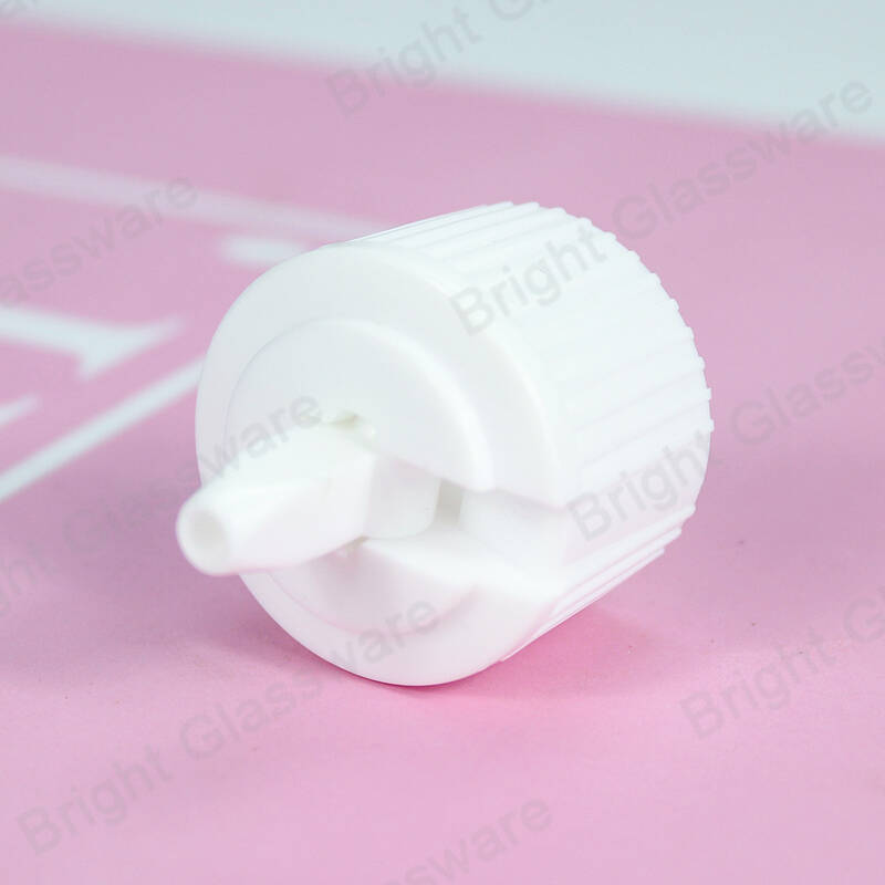 PP white plastic flip top cap 24/410 for hand soap sanitizer bottle