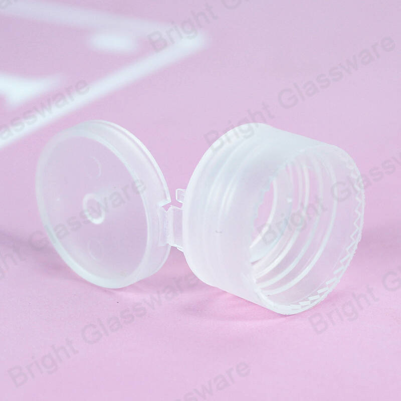 20/410 clear pet plastic 24mm flip top cap for cosmetic lotion bottle