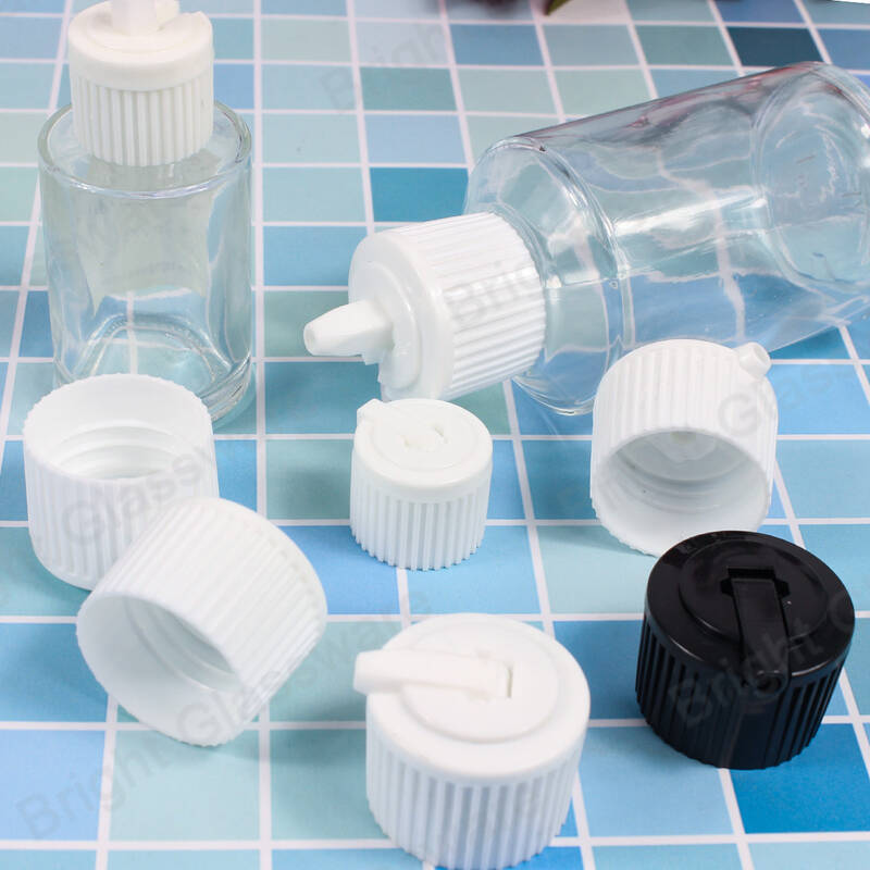 100ml clear cosmetic plastic bottle with press fild disc top cap for shampoo essential oil skin care cream packaging