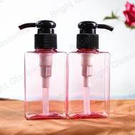 Pink antibacterial alcohol plastic bottle Disinfectant bottle 100ml hand sanitizer bottle with black lotion pump