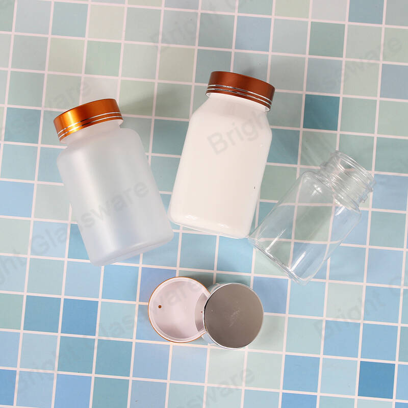 100ml wide mouth pharmacy medicine bottle plastic cosmetic bottles with child proof resistant cap