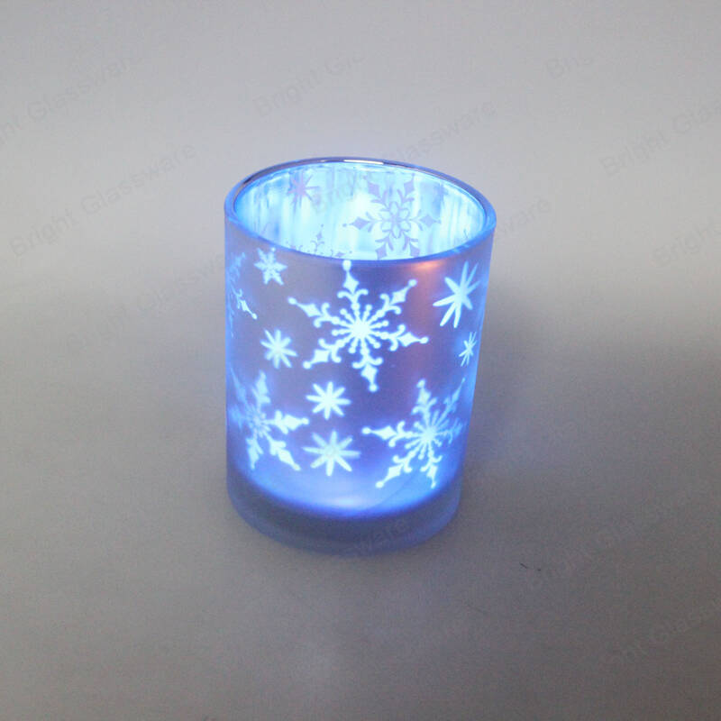 Romantic cute candle jar glass candle holders for wedding decorative & Christmas gift