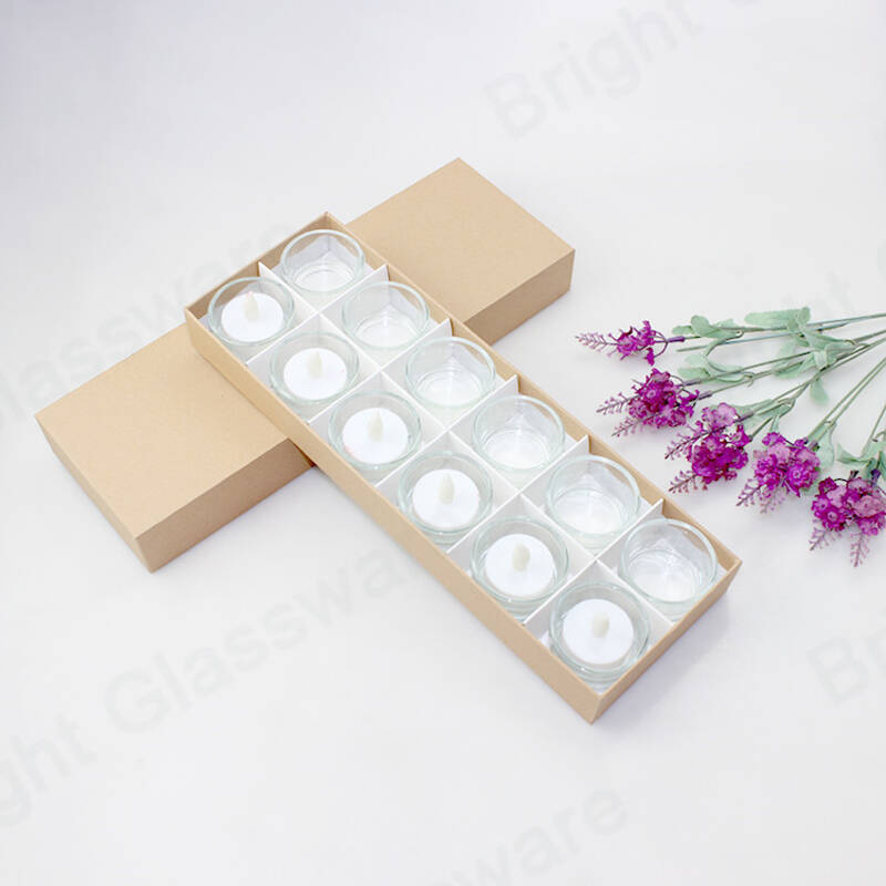 3pcs 2oz Mini Square Candle Container With Brown Box For Wedding