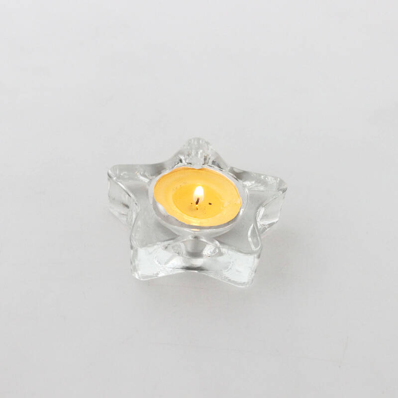 wedding centerpieces clear mini crystal tealight votive star shape candle holder glass