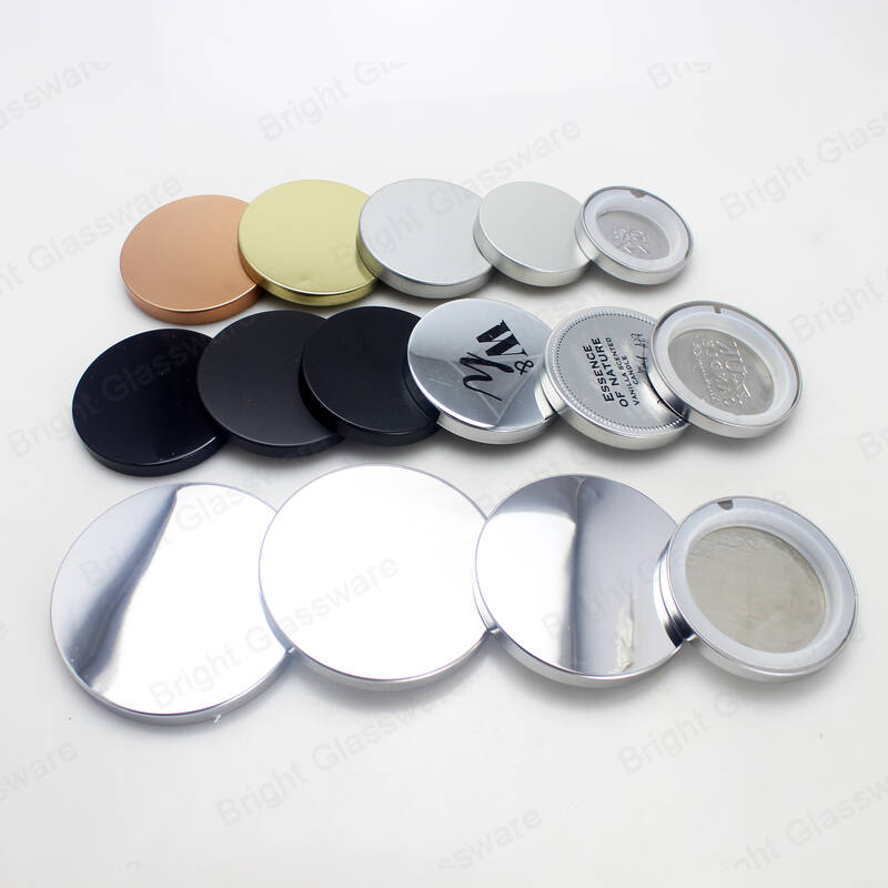 Custom different size and color metal tinplate candle lid candle jar cover with silicone gasket for candle cup