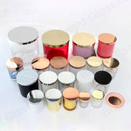 wholesale all size rose gold silver black aluminum candle lids metal for glass candle jar
